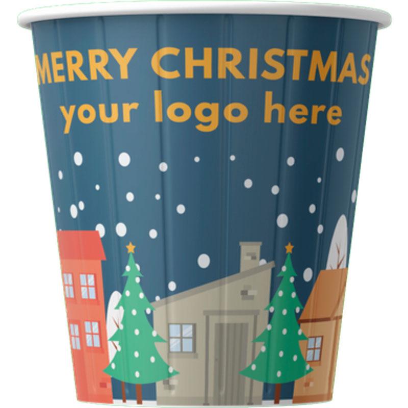 Gobelet en carton avec them Noël