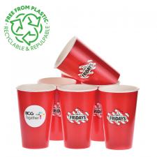 recykling kubki papierowe BIO z nadrukiem, recyclable customized paper cups, pappersmuggar med tryck, GOBELETS EN CARTON PERSONNALISÉS